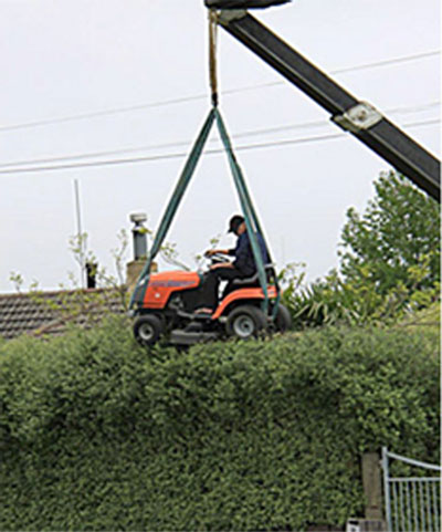 Lawn-mower-crane-hedge-trim