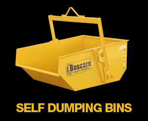 self dumping bins