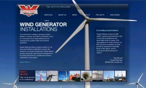 Eagle West Wind Services Website Home Page