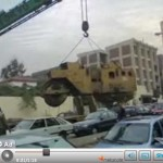 steamroller-dropped-on-car