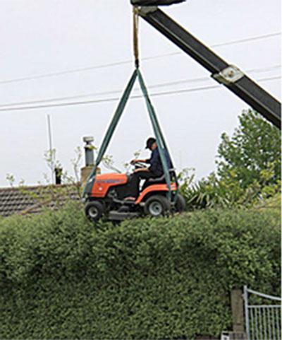 Lawn-mower-crane-hedge-trim