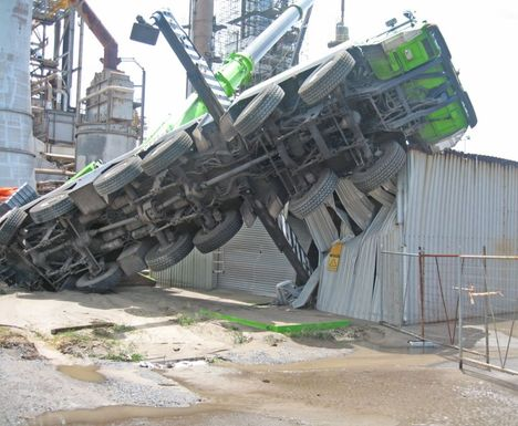Crane accident in chemical plant - All Things Cranes