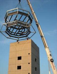 Air traffic control tower cab set