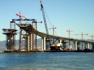 Bigge utilized several cranes and gantry systems to help place a portion of the San Francisco Bay Bridge