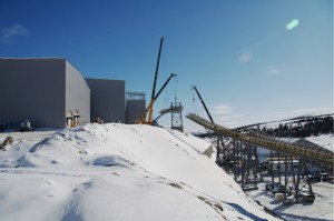 Here is a 3 crane lift in the arctic in march of 2010, At the Yukon zinc project I was the construction safety coordinator for surface construction. In this photo we are installing conveyor parts