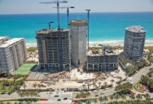 If you look closely you will find 6 Tower Cranes overlooking the Atlantic Ocean while working in Bal Harbor, FL
