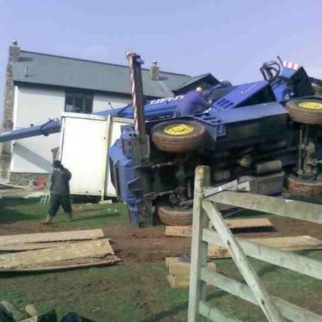 UK Crane overturns 1