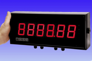 The new large digit display indicators from LCM Systems are available in four- and six-digit versions