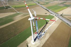 Felbermayr from Austria at work installing a wind turbine