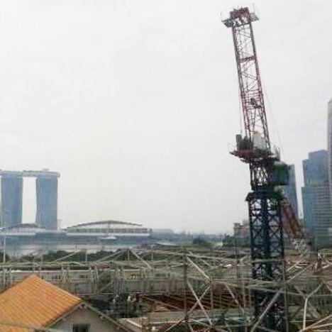Singapore  Tower crane collapse 2