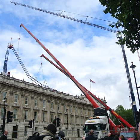 Recovering Crane in London