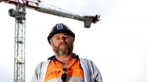 CFMEU Assistant State Secretary Mick McDermott at the RAH site.
