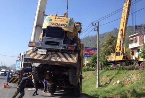 Crane Overturns in Phuket C