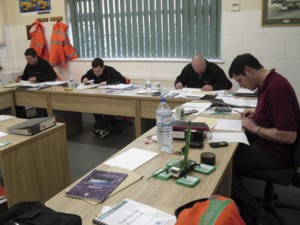 Candidates from Emerson Crane Hire in the UK attending the ALLMI Appointed Person course before gaining certification