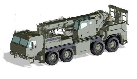armoured rescue crane