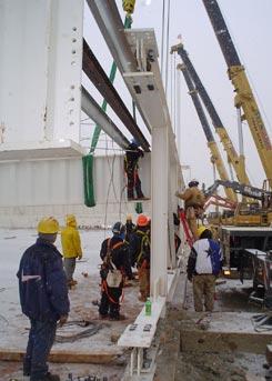 Ten Crane Lift. A